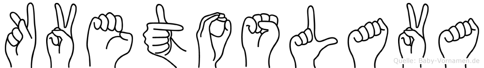 Kvetoslava in Fingersprache für Gehörlose