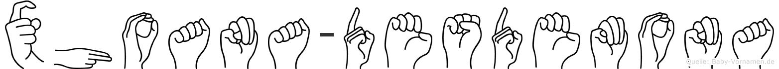 Xhoana-Desdemona im Fingeralphabet der Deutschen Gebärdensprache