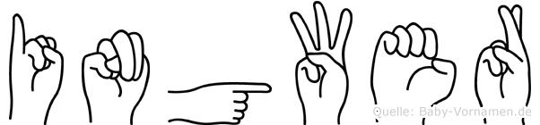 Ingwer im Fingeralphabet der Deutschen Gebärdensprache