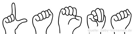 Laena in Fingersprache für Gehörlose