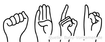 Abdi in Fingersprache für Gehörlose
