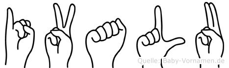 Ivalu im Fingeralphabet der Deutschen Gebärdensprache