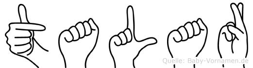 Talar im Fingeralphabet der Deutschen Gebärdensprache