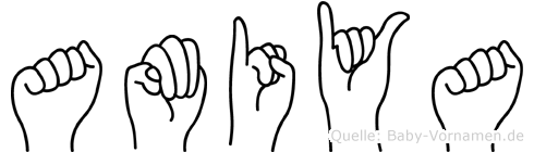 Amiya in Fingersprache für Gehörlose