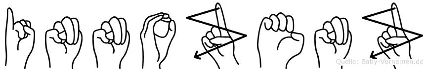 Innozenz in Fingersprache für Gehörlose