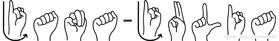 Jana-Julia im Fingeralphabet der Deutschen Gebärdensprache