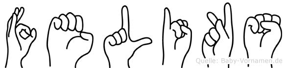 Feliks in Fingersprache für Gehörlose