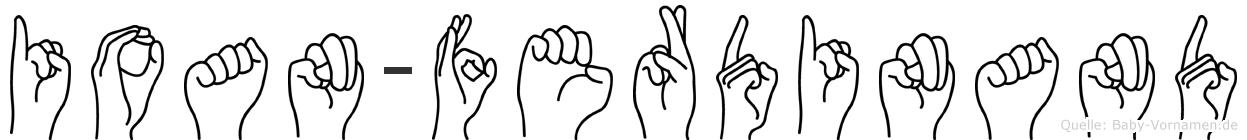 Ioan-Ferdinand im Fingeralphabet der Deutschen Gebärdensprache