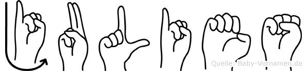 Julies in Fingersprache für Gehörlose