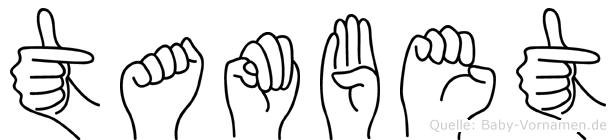 Tambet in Fingersprache für Gehörlose