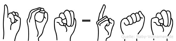 Ion-Dan im Fingeralphabet der Deutschen Gebärdensprache
