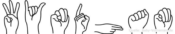 Wyndham in Fingersprache für Gehörlose