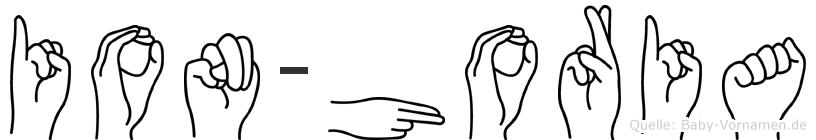 Ion-Horia im Fingeralphabet der Deutschen Gebärdensprache