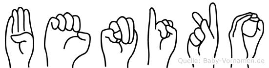 Beniko im Fingeralphabet der Deutschen Gebärdensprache