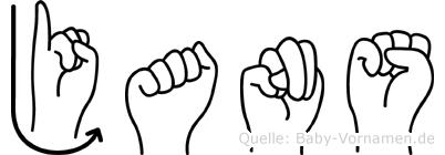 Jans im Fingeralphabet der Deutschen Gebärdensprache