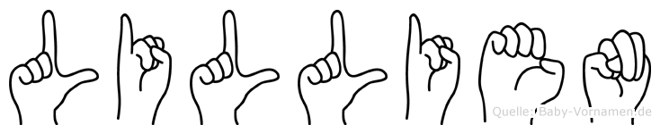 Lillien in Fingersprache für Gehörlose