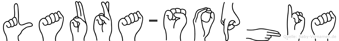 Laura-Sophia im Fingeralphabet der Deutschen Gebärdensprache