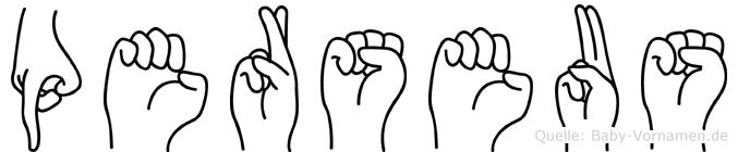 Perseus im Fingeralphabet der Deutschen Gebärdensprache
