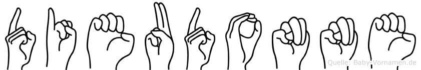 Dieudonne im Fingeralphabet der Deutschen Gebärdensprache