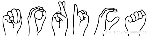 Norica in Fingersprache für Gehörlose