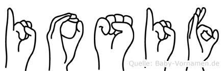 Iosif im Fingeralphabet der Deutschen Gebärdensprache