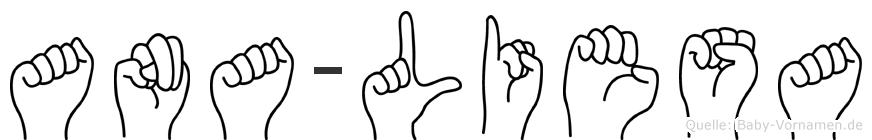 Ana-Liesa im Fingeralphabet der Deutschen Gebärdensprache