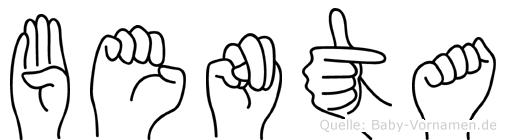 Benta im Fingeralphabet der Deutschen Gebärdensprache