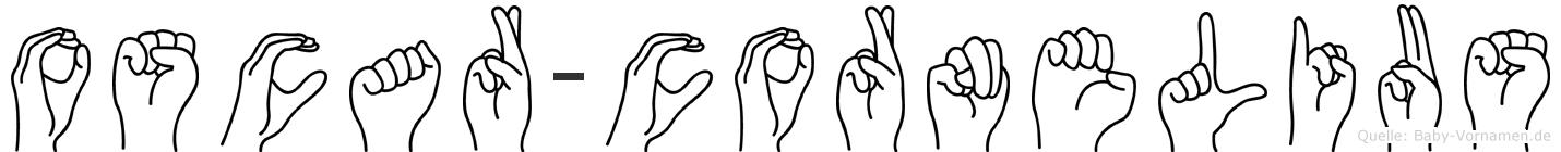 Oscar-Cornelius im Fingeralphabet der Deutschen Gebärdensprache