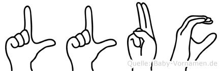 Lluc im Fingeralphabet der Deutschen Gebärdensprache