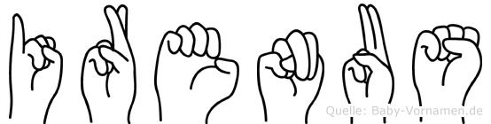 Irenäus in Fingersprache für Gehörlose