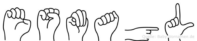 Esmagül im Fingeralphabet der Deutschen Gebärdensprache