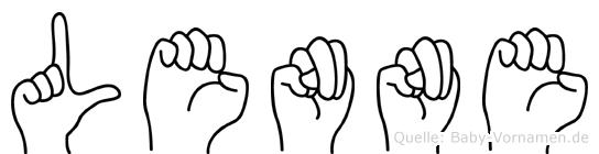 Lenne im Fingeralphabet der Deutschen Gebärdensprache