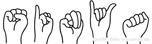 Sinya im Fingeralphabet der Deutschen Gebärdensprache