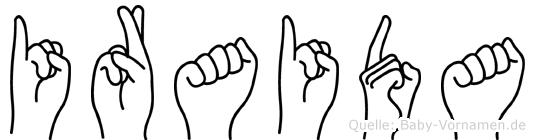 Iraida in Fingersprache für Gehörlose