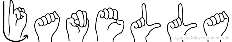 Janella im Fingeralphabet der Deutschen Gebärdensprache