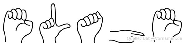 Elahe im Fingeralphabet der Deutschen Gebärdensprache