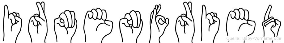 Irmenfried in Fingersprache für Gehörlose