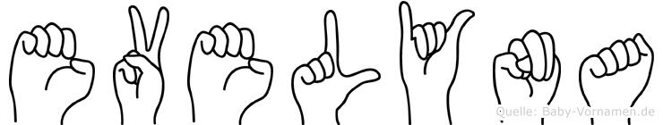 Evelyna in Fingersprache für Gehörlose