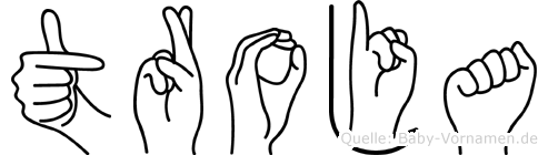 Troja im Fingeralphabet der Deutschen Gebärdensprache