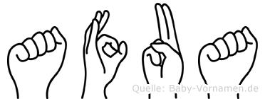 Afua im Fingeralphabet der Deutschen Gebärdensprache