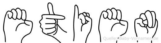 Etien im Fingeralphabet der Deutschen Gebärdensprache