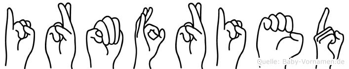 Irmfried in Fingersprache für Gehörlose