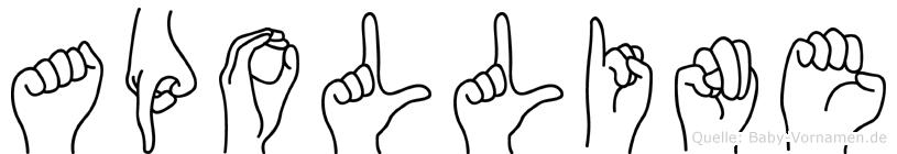Apolline in Fingersprache für Gehörlose