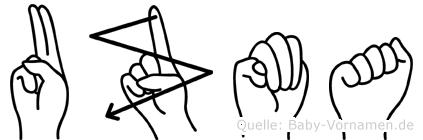 Uzma in Fingersprache für Gehörlose