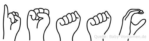 Isaac im Fingeralphabet der Deutschen Gebärdensprache