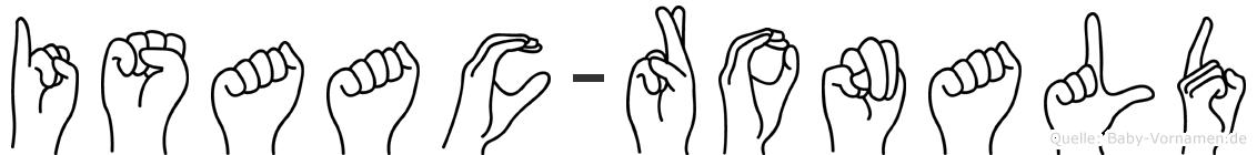 Isaac-Ronald im Fingeralphabet der Deutschen Gebärdensprache