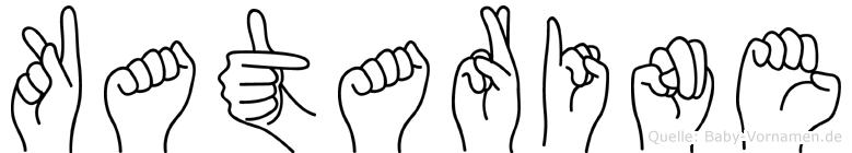 Katarine im Fingeralphabet der Deutschen Gebärdensprache