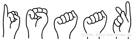 Isaak im Fingeralphabet der Deutschen Gebärdensprache