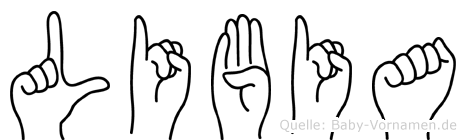 Libia in Fingersprache für Gehörlose