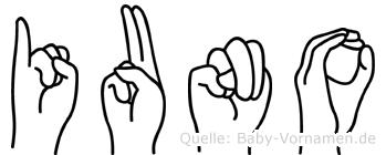 Iuno in Fingersprache für Gehörlose